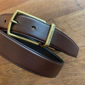 Coach Leather Reversible Black & Brown Belt